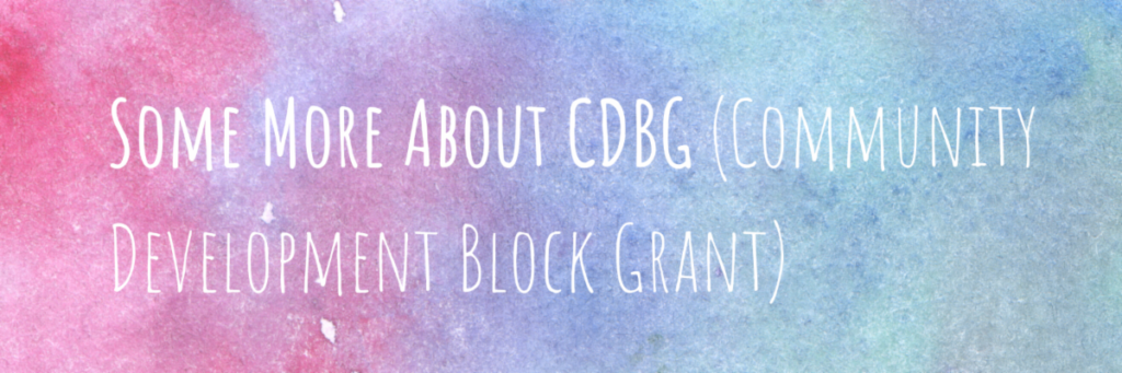 See more about CDBG