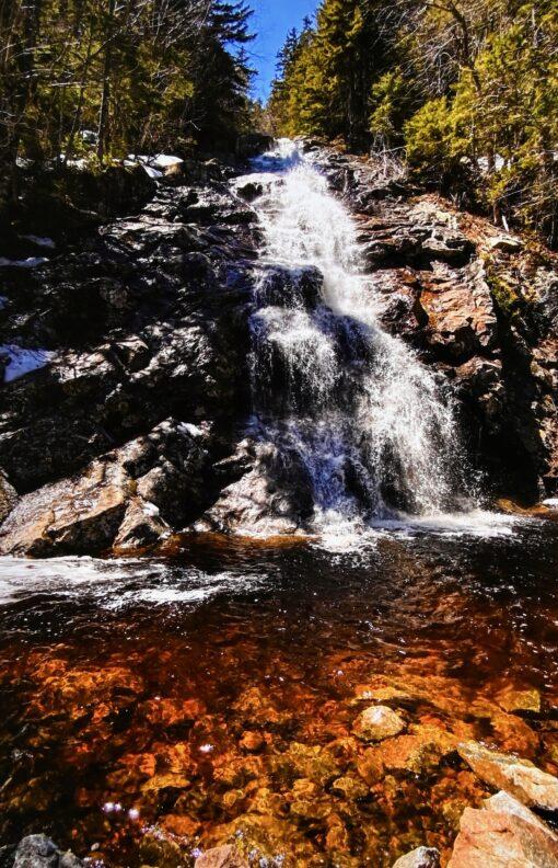 crawford notch waterfall photograph by daryl hawk