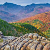 Photograph of Crawford Notch from Mount Crawford in autumn