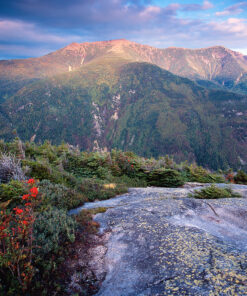 Photograph of the Franconia Range from Cannon Mountain Ledges