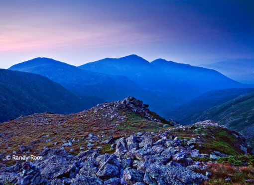 Photograph of the Northern Presidential Mountains from Mount Washington