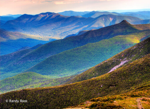 Photograph of the southeast view from Mount Lafayette