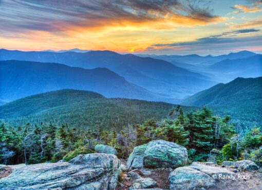Photograph of sunrise from Mount Liberty