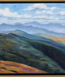 oil painting of a view of the White Mountains, New Hampshire